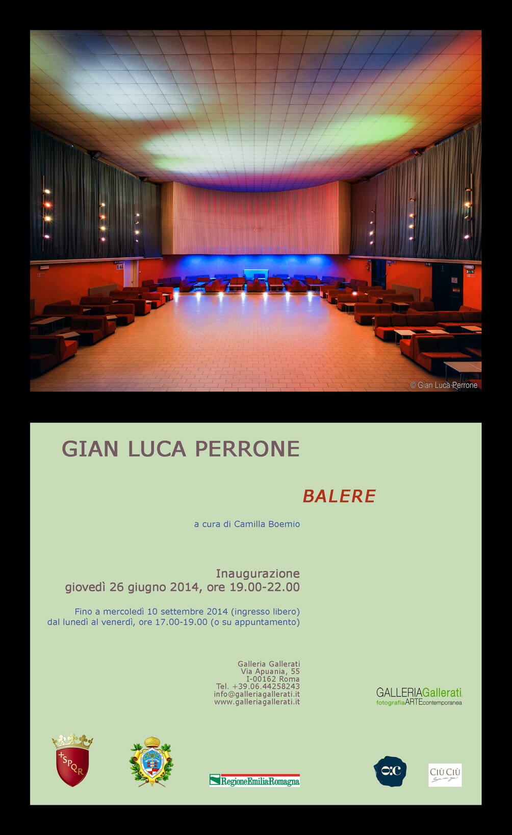 Le Balere di Gian Luca Perrone alla Galleria Gallerati di Roma